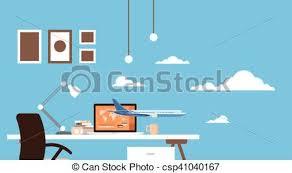 buy art desk online empty workplace table laptop buy ticket online application clip