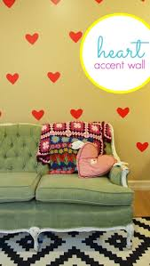simple heart diy wall decals diycandy com stick a whole bunch of these heart diy wall decals onto your living room wall to