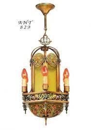 antique 1920 ceiling light fixtures vintage hardware lighting arts and crafts craftsman and
