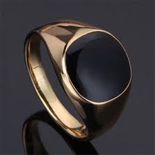 size 7 13 2015 new 18k plated classic gold men rings black anillos size 7 12 2015 new vintage gold plated fashion classic gold