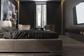 small dark bedroom ideas cocoa wall paint color dark wooden