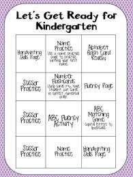 getting ready for kindergarten summer homework packet by