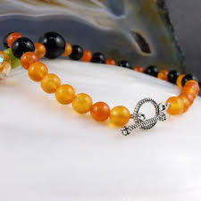 orange stone necklace images Black orange semi precious stone necklace making a statement jpg