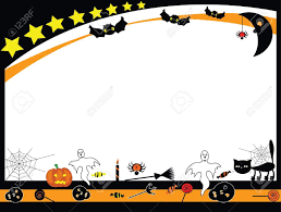Free Halloween Borders And Frames Halloween Card Templates Free Virtren Com