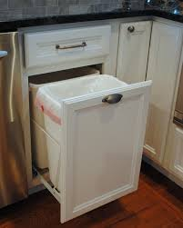 in cabinet trash can can laminate trash cabinet with top hole