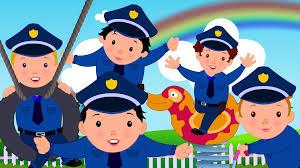 five little policemen original nursery rhyme youtube