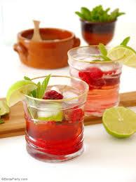 raspberry mojito cocktail recipe party ideas party printables
