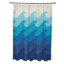 the geometric print of this deep sea geometric print shower curtain will enhance your bathroom s decor