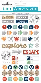 Travel planner stickers paper house