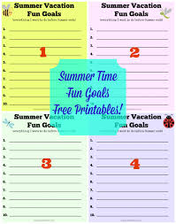 summer vacation fun goals free printables pinkwhen