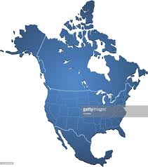 North America Map by North America Map Blue Vector Art Getty Images