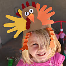 turkey hat handprint turkey hat for a thanksgiving craft crafty morning