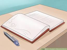 memorial service sign in book how to conduct a memorial service with pictures wikihow