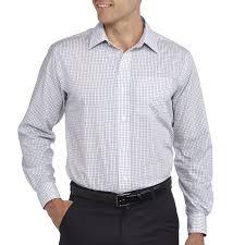 george men u0027s long sleeve dress shirt walmart com
