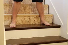 installing stair treads and risers for the home