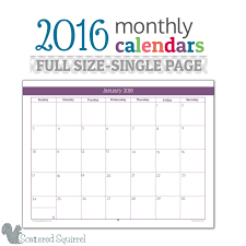 calendar template for mac pages free 2016 monthly calendar printables full size edition layouts free