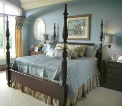 soft blue interior color for classic bedroom ideas with elegant