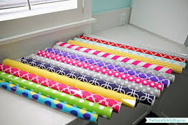 wrapping supplies organized wrapping supplies the side up