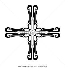 vector tribal tattoo cross designs vector stock vector 319239764