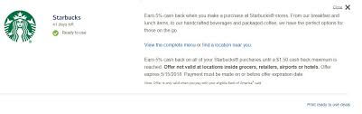 get 5 cashback on purchase deal 5 airbnb and starbucks purchases from bank of