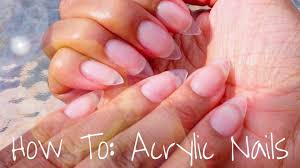 acrylic nails tutorial 2016 almond shaped how to do your own