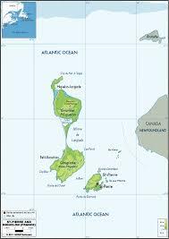 map of st and miquelon st et miquelon map mappery