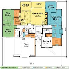 House Plans With Dual Master Suites by Best 25 One Floor House Plans Ideas Only On Pinterest Ranch