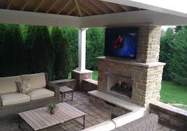 covered patio with fireplace covered patio with tv and fireplace covered patio with tv