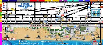 Venice Map Venice Beach California Map California Map