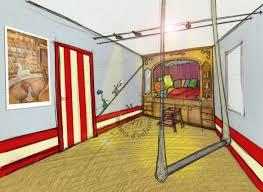 chambre cirque dans ma roulotte une chambre sur le thème du cirque