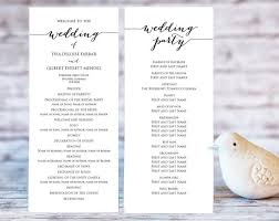 wedding ceremony programs diy wedding program templates ceremony program template diy wedding