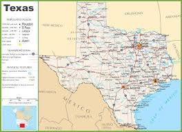 Map Of Usa With Highways texas highway map