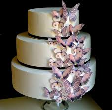 wedding cake topper edible butterflies the original brown earth