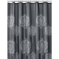 Black Grey And White Shower Curtain Amazon Com Interdesign Dandelion Fabric Shower Curtain 72 X 72
