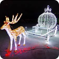 outdoor outside lighted reindeer yard decorations