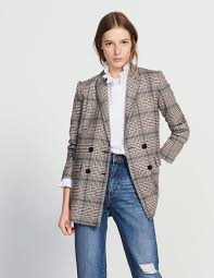 double breasted wool blend jacket jackets sandro paris