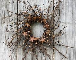 twig wreath with and green pip berries pip berry wreath