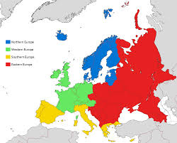 Blank Eastern Europe Map by European Sub Regions According To Eurovoc The Official Thesaurus