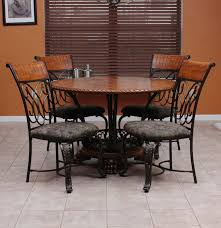 ashley furniture oak veneer and wrought iron dinette set ebth