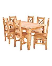 rectangular pine dining table corona pine dining table and 6 chairs j d williams