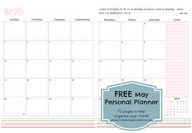 printable monthly planner 2016 free may personal planner pages free printable