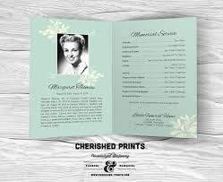 Funeral Programs Order Of Service Chrysanthemum Modern Celebration Of Life By Cherishedprints