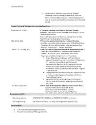biomedical engineer resume biomedical engineer cv