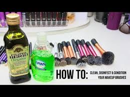 how to deep clean disinfect condition your makeup brushes you