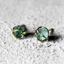 emerald earrings uk tamara gomez emerald stud earrings in yellow gold