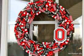 ohio state ribbon ohio state wreath things i would like to for my home