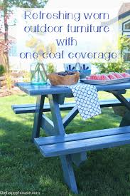 refreshing worn outdoor furniture with one coat coverage