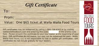 Mother S Day Food Gifts Mother U0027s Day Food Tour Gift Certificates Walla Walla Food Tours