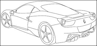 kid car drawing printable sports car coloring pages for kids u0026 teens download or