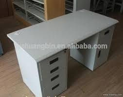 Stainless Steel Office Desk Modern Office Low Price Computer Desk Table White Stainless Steel